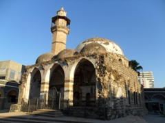 The 18th Century Al Amari Mosque is one of the few historical structures remaining in Tiberias