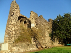 Remains of the watch tower built in the 18th Century by Beduin ruler Daher el-Omar; Tiberias