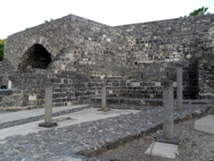 Ruins of the Archeological Garden in Tiberias; Sea of Galilee