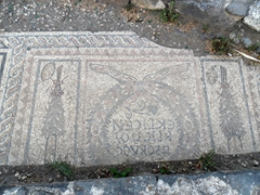 Mosaics from the Archeological Garden; Tiberias