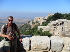 Robby strikes a pose at Nimrod Fortress