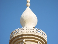 Decorated minarets such as this one are commonplace throughout Kuwait