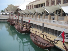 Restored fleet of old sailing vessels on display at the Scientific Center