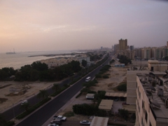View of Kuwait from our high rise apartment