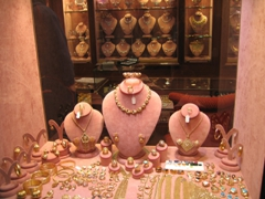 Kuwait's gold souk has plenty of jewelry on sale… all of which are made of high quality 22 carat (or higher) gold