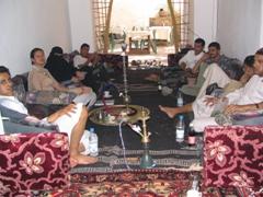 Relaxing at Taj Talha with some Sheesha (water pipes) and shai (tea)