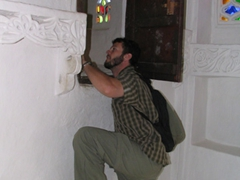 Robby playing around in Dar al-Hajar