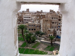 Bird's eye view of old Sana'a