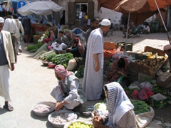 Locals selling fresh vegetables, Sana'a