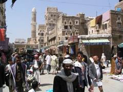 Typical Sana'a street scene