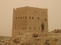 Even though we visited during a sandstorm, old Marib remains hauntingly beautiful