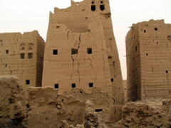 Many of Marib's mud-built buildings were destroyed in the 1960's civil war bombings