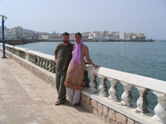 Robby and Becky on the Corniche, Mukalla
