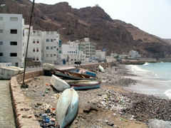 Fishing boats on the coast of Mukalla