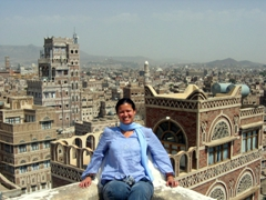 Becky absolutely adores incredible Sana'a!