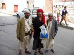Super friendly locals, Sana'a streets