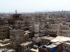 Fantastic panorama over Sana'a, from Taj Talha Hotel