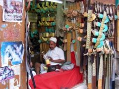 Vendor at the Jambiya suq, Sana'a