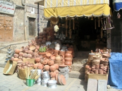 Clay pot shop, Old Sana'a