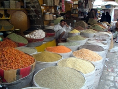 Colorful spice suq, Sana'a