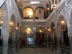 Interior of a caravanserai-cum-tourist gallery, Old Sana'a