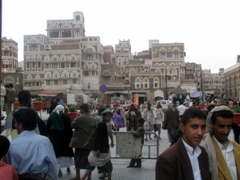 Typical scene at Bab al Yemen, Sana'a