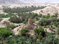 One of many ancient guard towers, Al-Hajarain