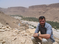 Robby posing in front of the fantastic Wadi Douan