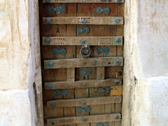 A typical example of Shibam's intricate doors, which can be found on numerous homes throughout the city