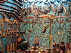 Interior of one of Shibam's antique stores