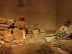 Basket weaving scene; Ajman Museum
