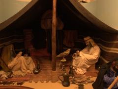 Replica bedouin tent scene; Ajman Museum