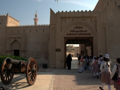School girls on a field trip to Ajman Museum, housed in an old ruler's palace which was built in the 18th Century