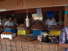 Delicious dates for sale (at a bargain price); Sharjah fruit and vegetable market