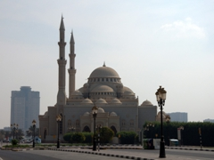 A mosque at the Sharjah corniche