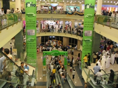 The shopping mall of Deira City Center is packed with shoppers