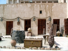 Courtyard view of the Heritage House in Dubai