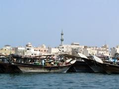 Merchant vessels on Dubai Creek