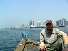 Robby hanging out on our dhow