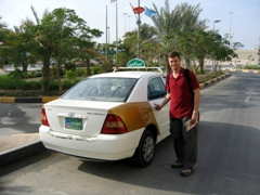 Robby is pleasantly surprised at how reasonable taxi fares are; Abu Dhabi