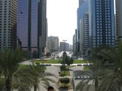 View of the sprawling capital city of UAE, Abu Dhabi