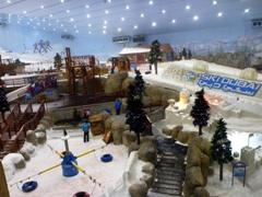 "View of ""Ski Dubai""; inside Mall of Emirates"