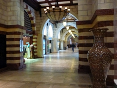 A recreation of a traditional Arabic Souk, located inside the Dubai Mall