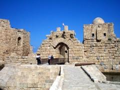 View of the 13th Century Crusader sea castle,  Qasr al-Bahr, Sidon