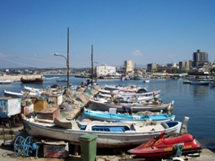 Boats at the Tyre harbor