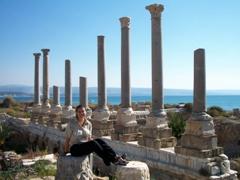 Becky at Al-Mina, Tyre