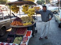 Tyre fruit vendor