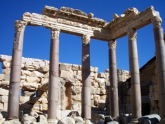 The temple ruins of Baalbek are famous for their exquisite detail, and the gods Jupiter, Bacchus, and Venus were worshipped here