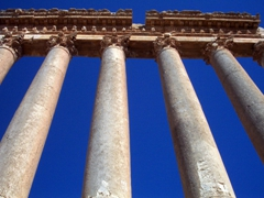 Columns from the Temple of Jupiter; Baalbek