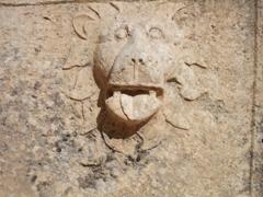 Lion face, Baalbek temple ruins